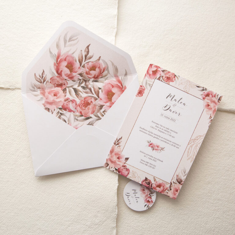 pozivnica za vjenčanje božuri